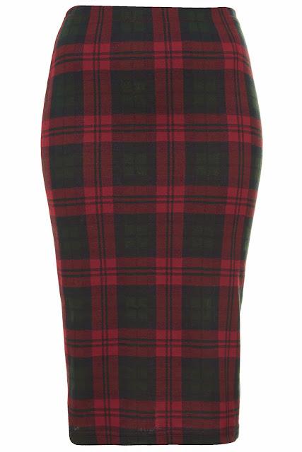 tartan tube skirt