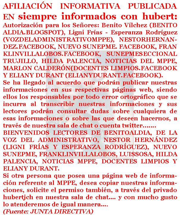 """results for """"Twitter Trackbacks For Siempre Informados Con Hubert"""