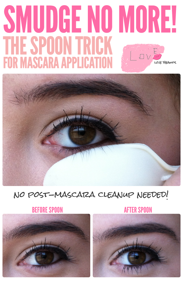 The Spoon Trick For Mascara Applicattion