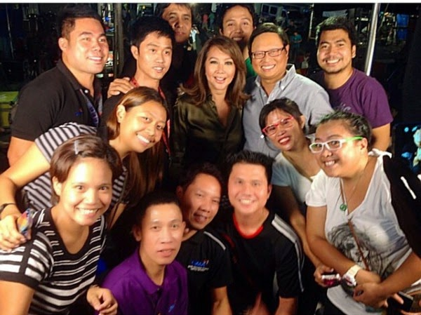 Spotted: Korina Sanchez with Arnold Clavio and his news team