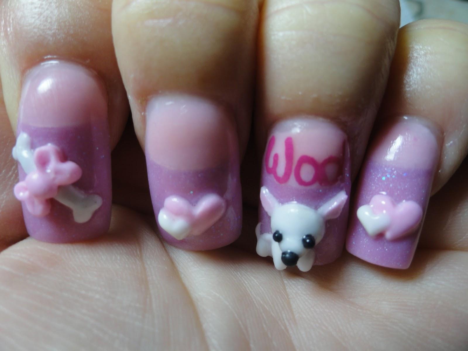 Stylish crazy 3d nail designs nail art designs for 3d nail art salon