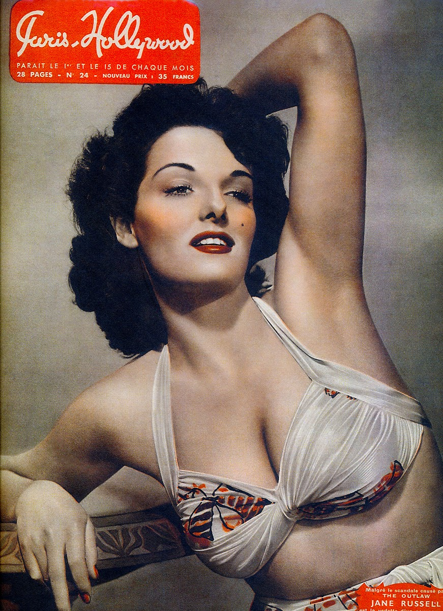 9b2774a6e6369 Jane Russell on the Cover of Paris-Hollywood Magazine, 1947 | BlueisKewl
