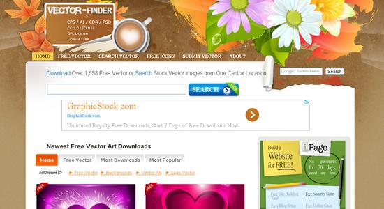 Situs Penyedia Vector Gratis Vector Finder