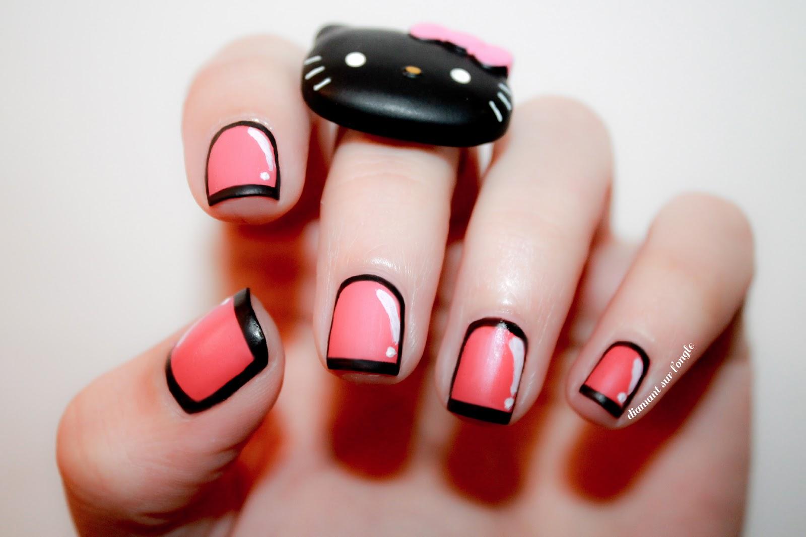 Pink Framed Nails