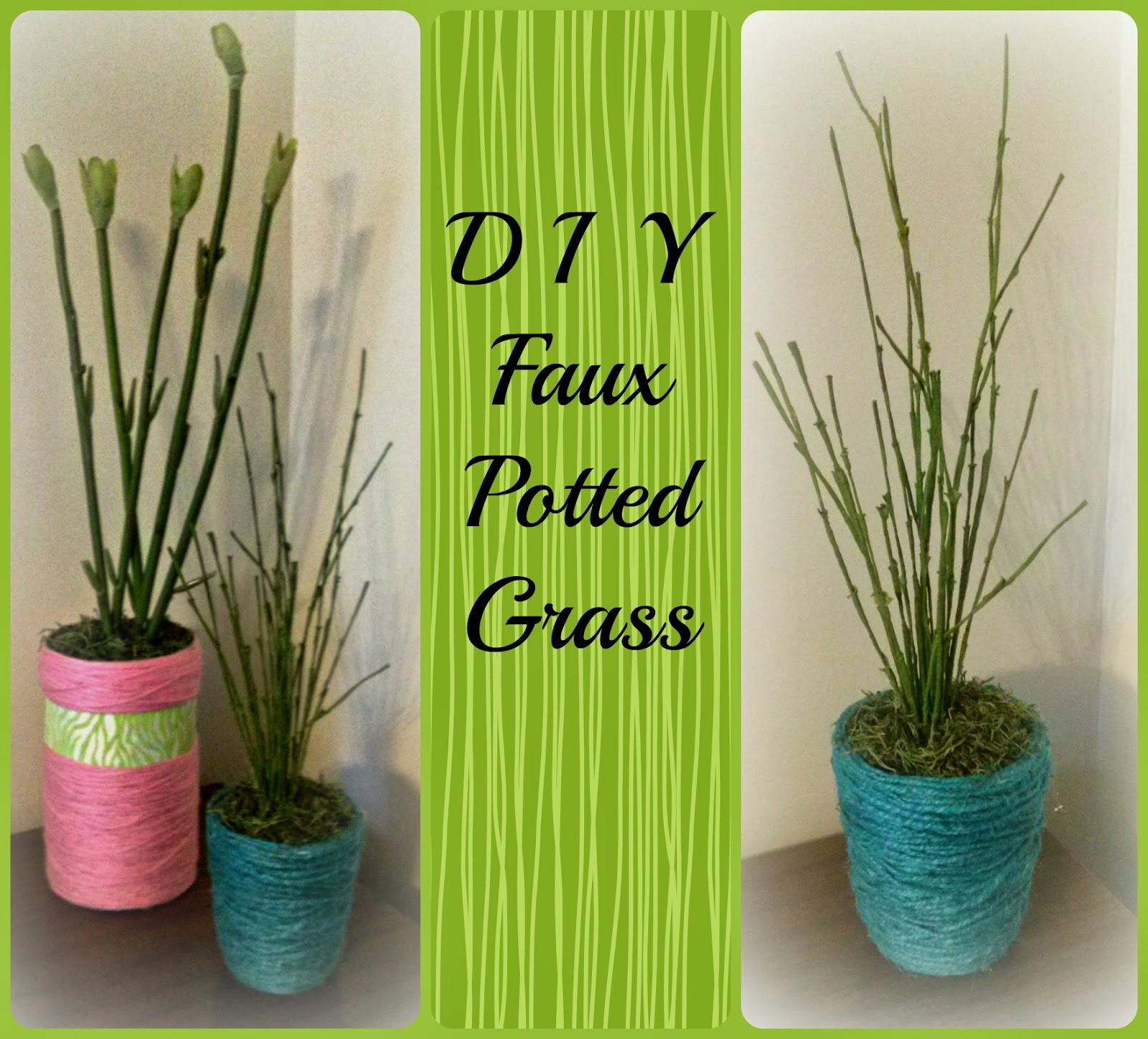 DIY Faux Potted Grass by Satisfaction Through Christ