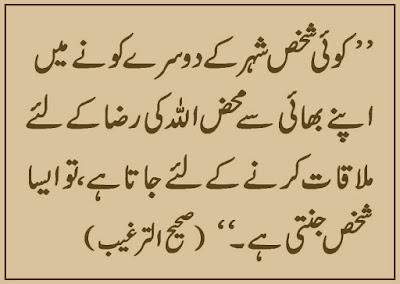 ALLAH Ki Raza Ke Liye Mulaqat