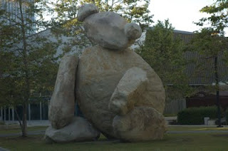 Bear, by Tim Hawkinson, at the Jacobs School of Engineering