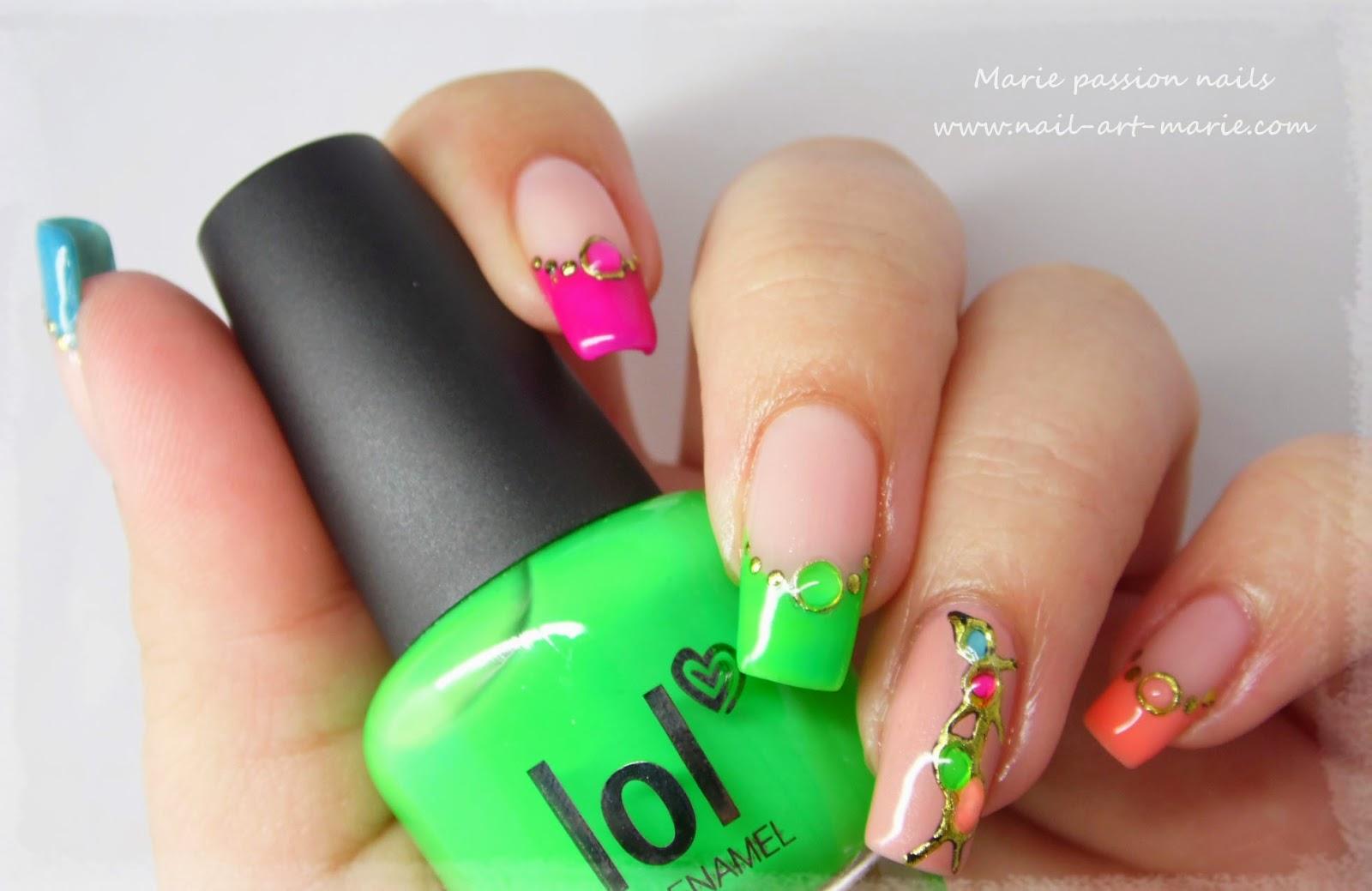 nail art fluo10