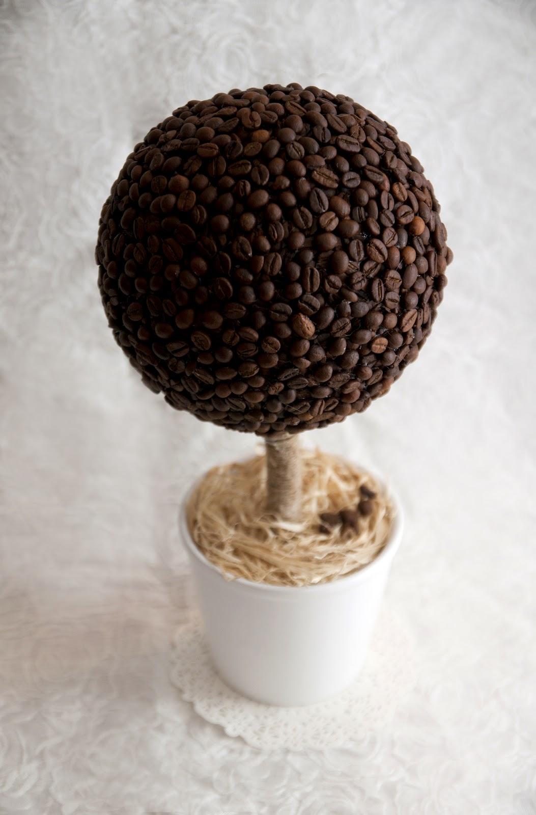 Ярлыки кофейное дерево топиарий