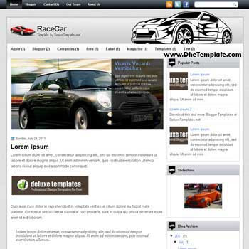 RaceCar blogger template. blogger template for automotive blog