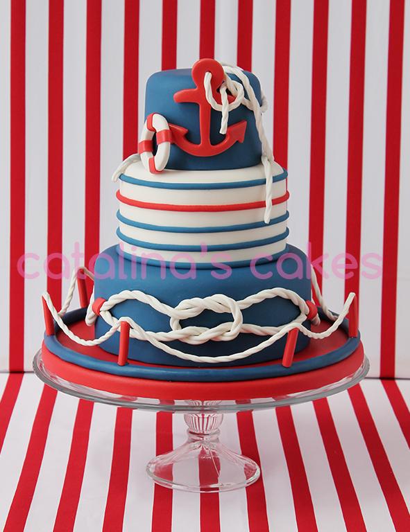 """Catalina y Sacarina: Navy Cake: """"Tarta Nerea"""""""