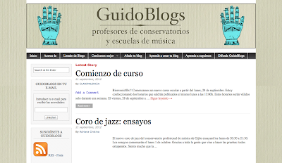 Directorio Musical para agregar tu blog, agrega tu blog y gana visitas GuidoBlogs