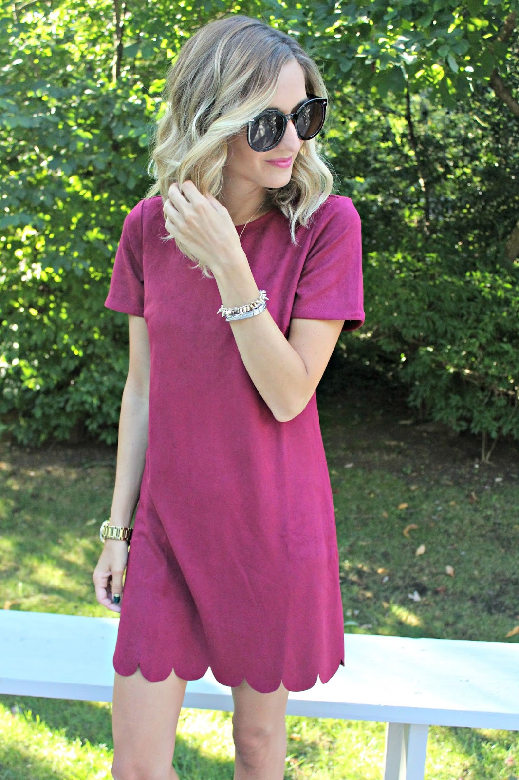 lulu's suede dress