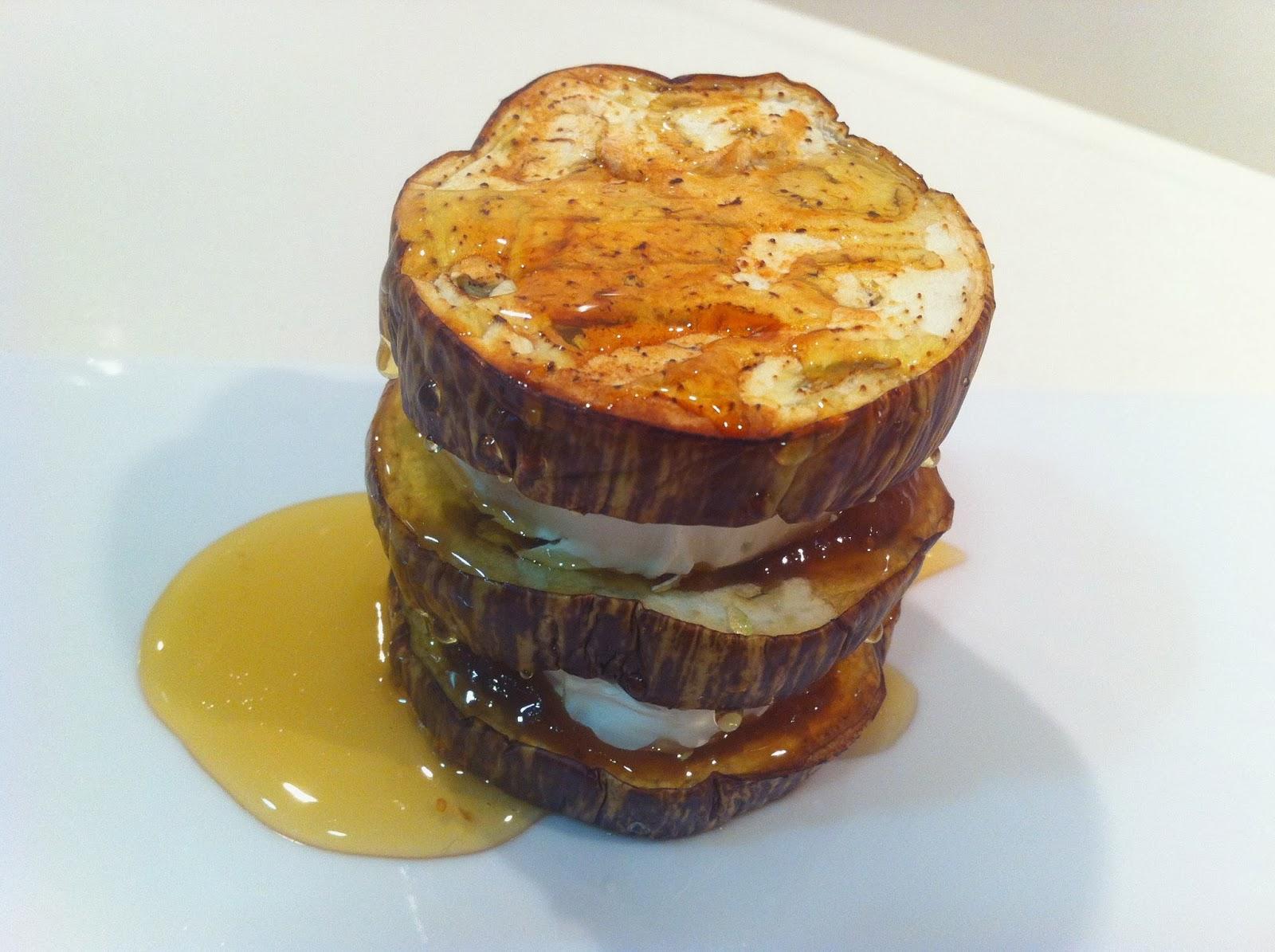 Recetas de cocina para todos montaditos de berenjena queso de cabra y mermelada de higos - Cocina para todos ...