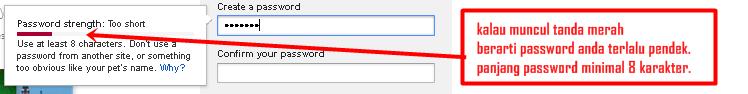cara membuat / mendaftar email baru di gmail - error yang sering terjadi