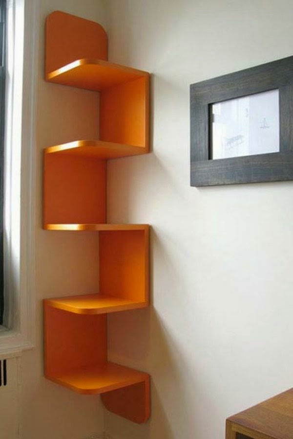 Great suggestions for corner shelving units 20 ideas for Living room shelves