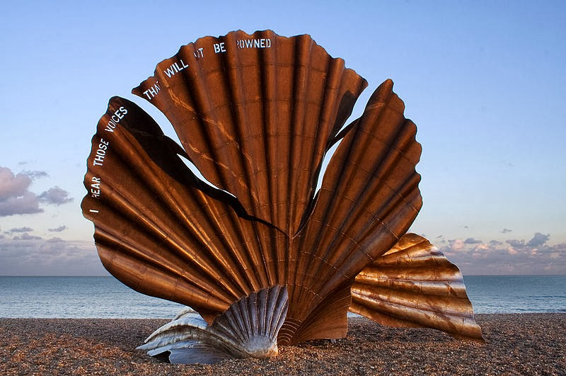 Maggi Hambling The Scallop (2003) Aldeburgh beach.Photograph © Andrew Dunn