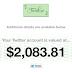 Quieres Saber Cuanto Vale Tu Cuenta de Twitter? Mira esto