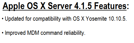 Mac OS X Server 4.1.5 Features