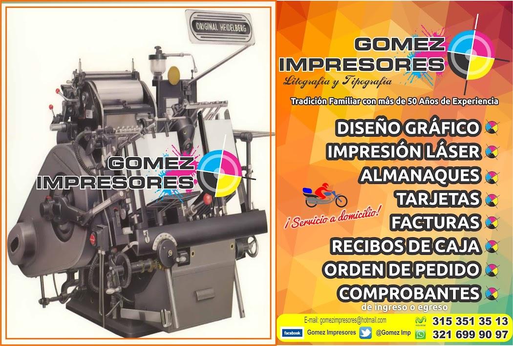 GOMEZ IMPRESORES - Litografía y Tipografía