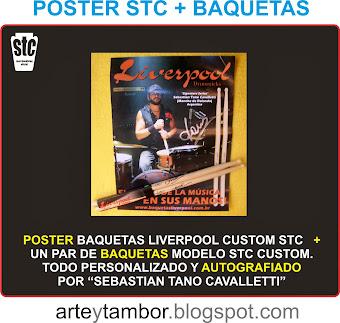 POSTER STC + BAQUETAS AUTOGRAF