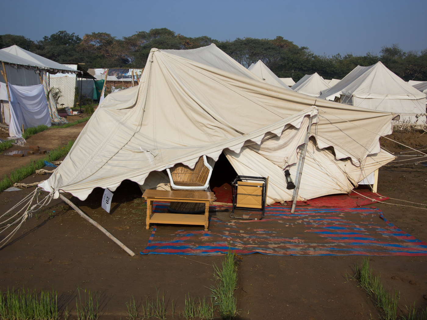 Yech what a flooded tent looked like post storm and furniture clear out. Muddy. Ah well letu0027s go eat in the dining tent. & Hello Talalay: Camping At The Kumbh