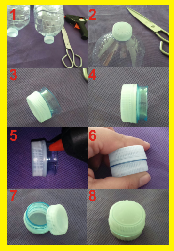 Como hacer pastillero con botellas