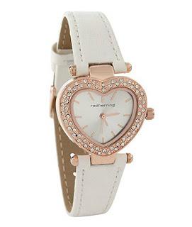 Red Herring ladies heart shape Watches