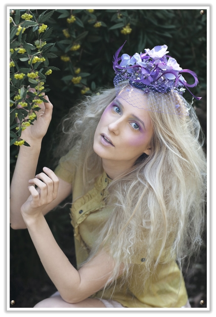 She creates really beautiful eyecatching headpieces which are really far