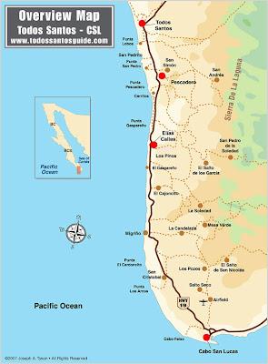 Mapa de Todos Santos Político Región