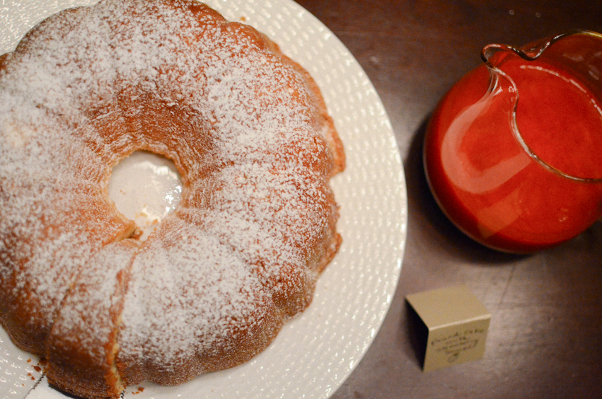 Apron Days: Almond Cream Cheese Pound Cake With Berry Coulis