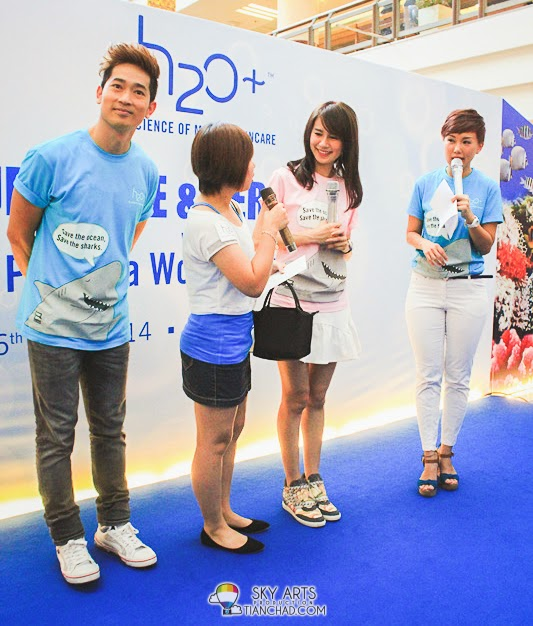 H2O+ Malaysia Brand Ambassador - Priscilla Wong and Aric Ho Malaysia's meet and greet session