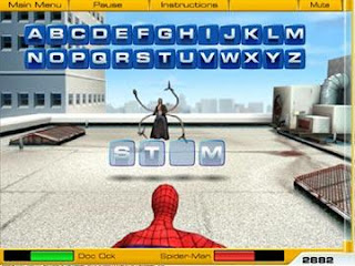 Spiderman Web Words Game