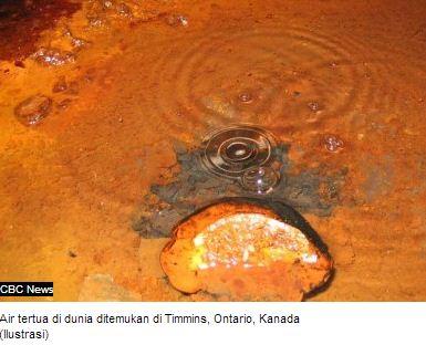 Salah Satu Air Tertua di Dunia DItemukan Di Kanada