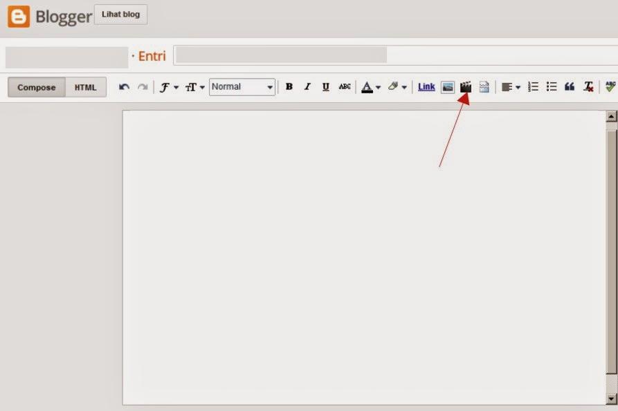 Cara Memasukkan Video ke dalam postingan blog