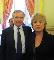 *M. BERNARD ACCOYER, PRÉSIDENT DE L'ASSEMBLÉE NATIONALE FRANÇAISE & MORGANE BRAVO*