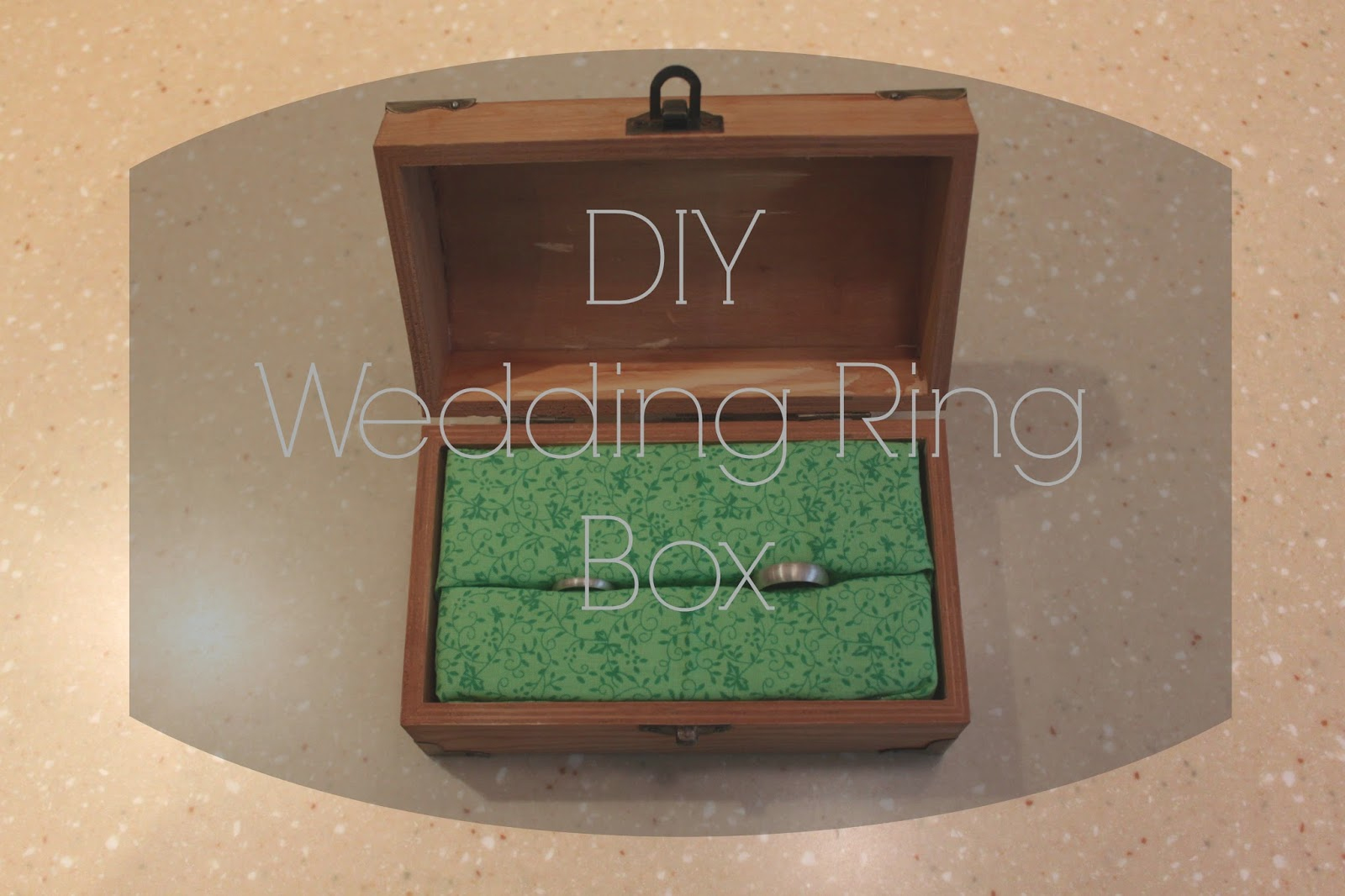 DIY Wedding Ring Box