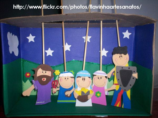 Blog da tia carol cen rios para contar hist rias for Mural sobre o natal