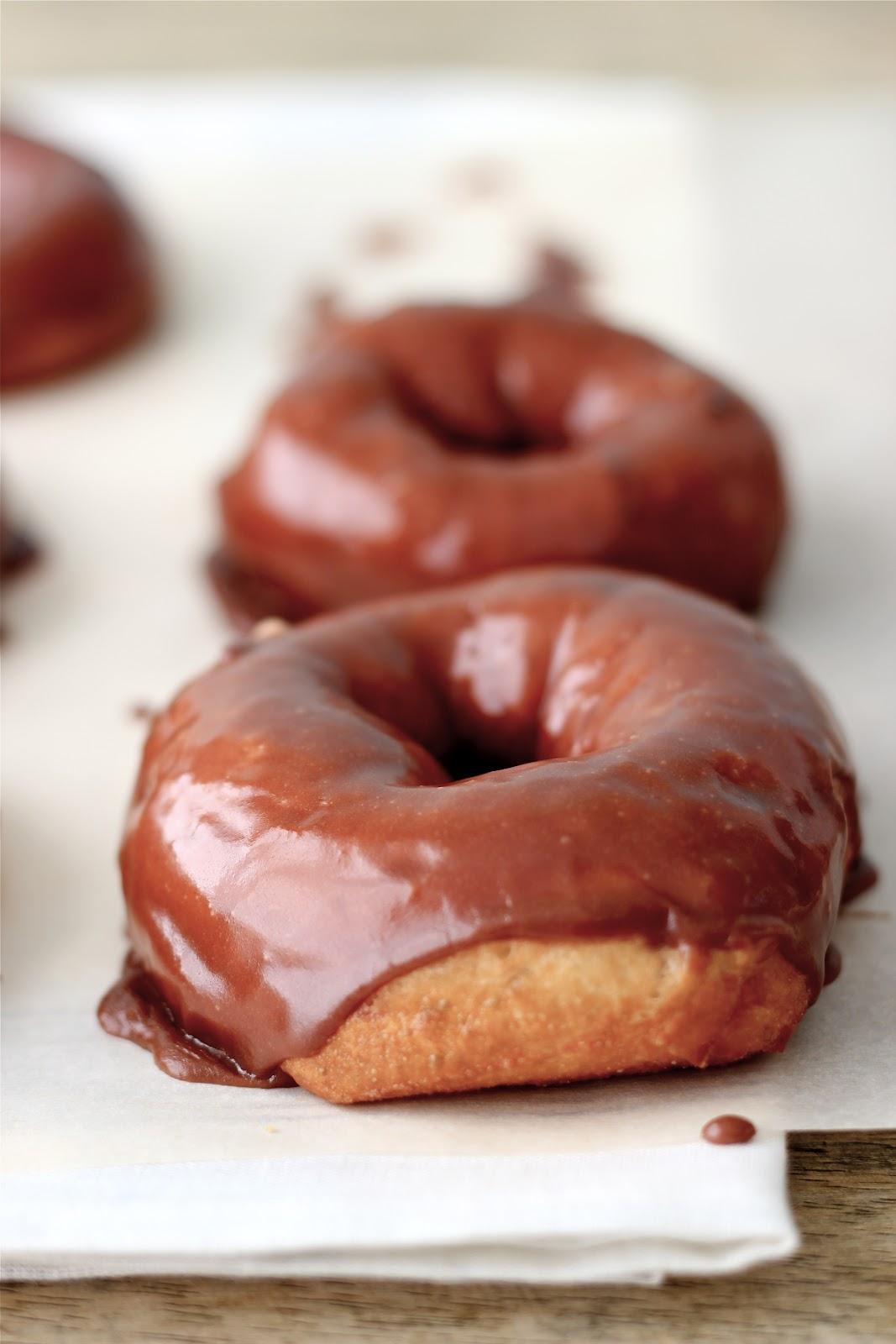 Jenny Steffens Hobick: Homemade Chocolate Glazed Donuts   Hot ...