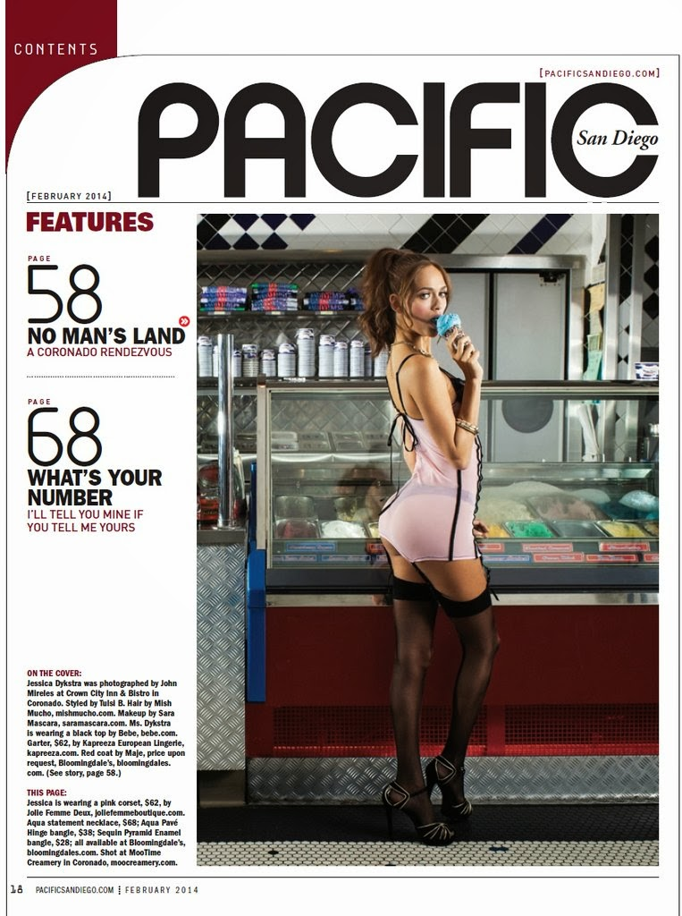 Jessica Dykstra HQ Pictures Pacific San Diego Magazine Photoshoot February 2014