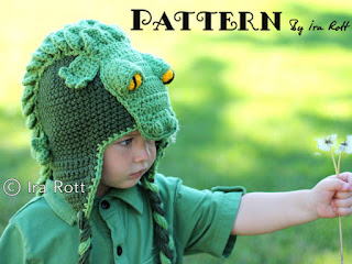 SNAPPY SIMON THE CROCODILE aNIMAL HAT PDF CROCHET PATTERN