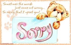 sorry letters