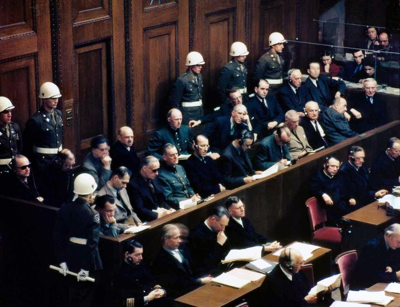 Banquillo de los acusados en los Juicios de Nuremberg