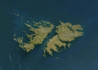 Falkland Islands Map Outline Appearance