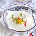 MAZAMORRA DE ALMENDRA {Con ahumados y mermelada de pera}