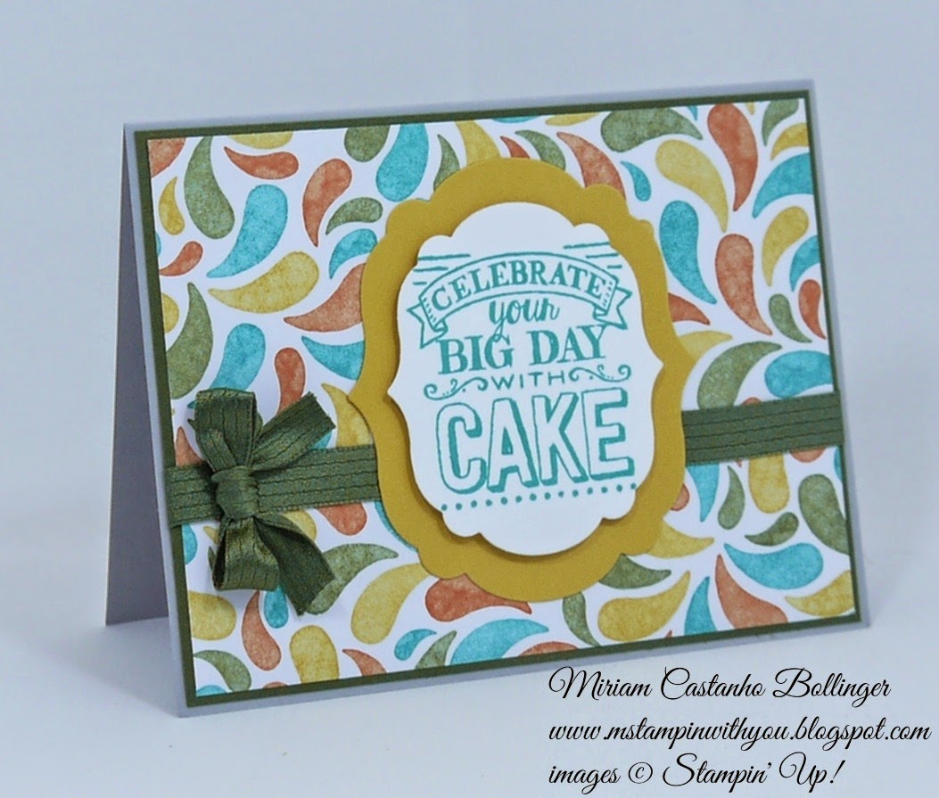 Miriam Castanho Bollinger, #mstampinwithyou, stampin up, demonstrator, fusion, birthday bash dsp, big day stamp set, big shot, labels collection, su