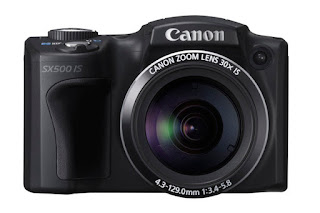 Canon powershot SX500 IS front view
