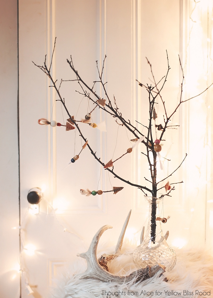 Thoughts from Alice DIY Rustic Boho Twig Arrow Ornaments