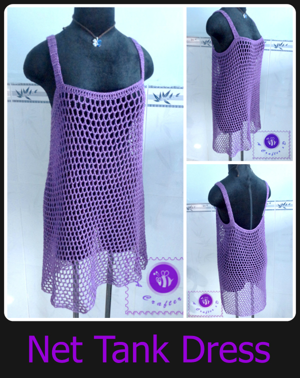 crochet mesh tank dress free pattern