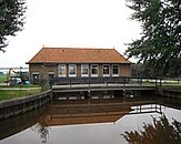 Gemaal De Fjouwer Kriten (boezemzijde). Bron: Onderzoek naar de vispasseerbaarheid van 11 gemalen in Fryslan. Pag. 7